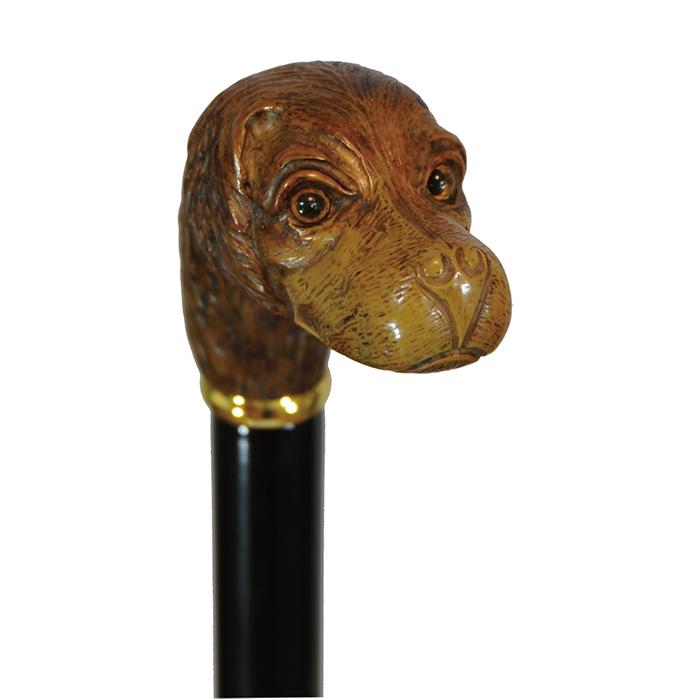 【代引不可】【高齢者 杖】【軽量 ステッキ】イタリア製アニマルハンドルステッキ(杖) 犬 ビーグル犬 全長88cm/重量230g/直径20mm 製品型番:012 瀬川 012