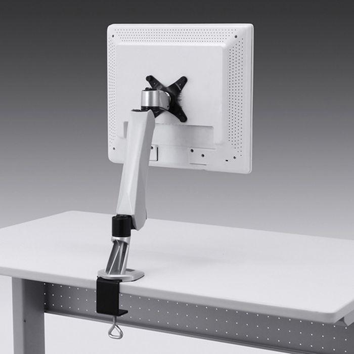 【沖縄・離島配送不可】水平垂直空間に自由に可動 液晶テレビにも対応 垂直液晶モニターアーム(机用・垂直) サンワサプライ CR-LA1005N