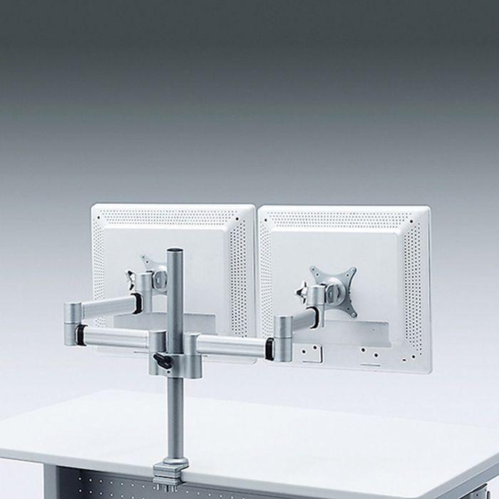 液晶ディスプレイ2面取り付け水平多関節液晶デュアルモニタアーム サンワサプライ CR-LA902N