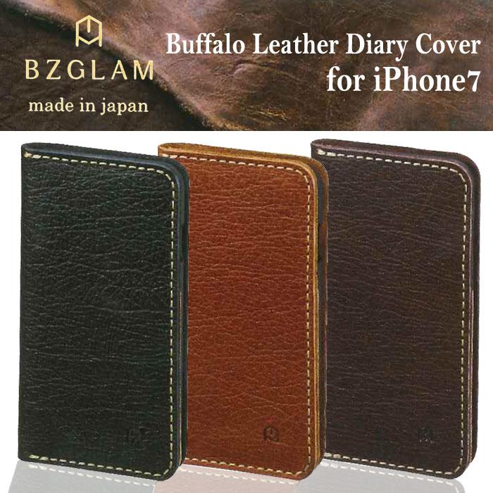 iPhone7 手帳型ケース Buffalo Leather ダイアリーカバー 高級レザー ギフト プレゼント 上質 イタリア産レザー サンクレスト iP7-BZ0*