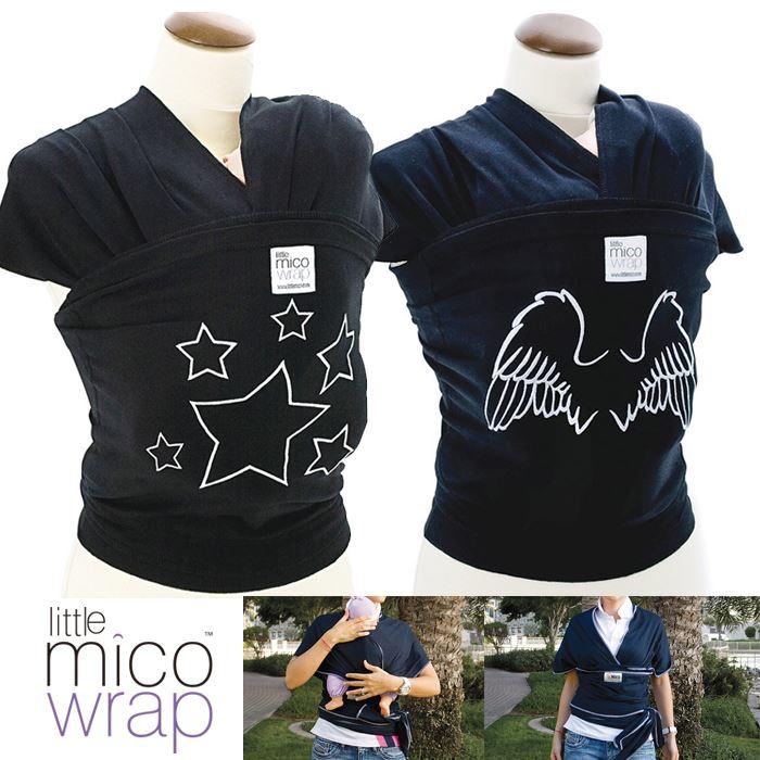 ベビーラップ ラップ キャリー スリング 抱っこ リトルミコ ベビーラップ LITTLE MICO WRAP BLACK ベビー 赤ちゃん 出産祝い プレゼント ギフト おしゃれ little mico LTM50*BK