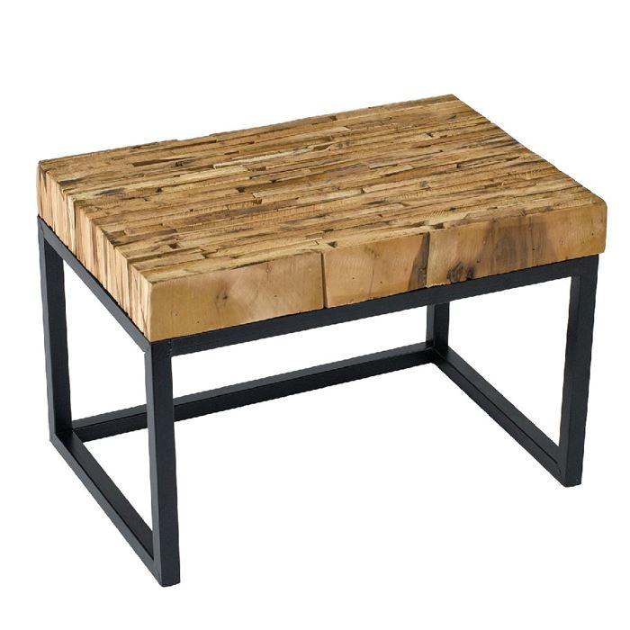 テーブル 台 スタンド パーケットテーブル レクト 45x30cm ミニテーブル リサイクルウッドピース インテリア ガーデニング アウトドア FESTA HOME SFFL1805