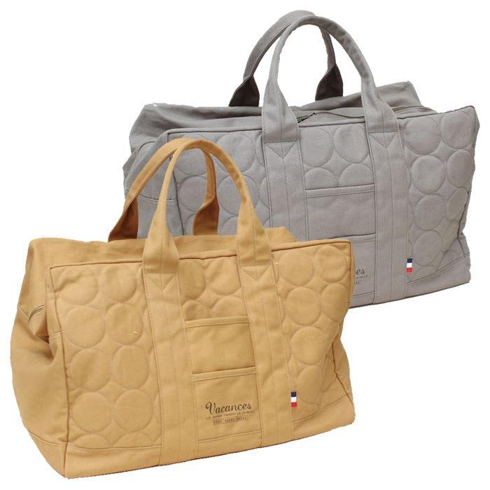 バッグ かばん ボストンバッグ 大容量 キャンバスキルト ボストンバッグ カジュアルバッグ おしゃれ シンプル 旅行 出張 スパイス SFVC1207