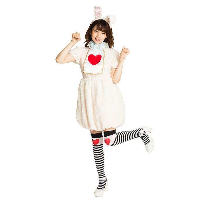 ふわもこアニマル ホワイトラビット どうぶつ コスプレ 仮装 衣装 コスチューム ふわもこ素材 ワンピース ラビット うさぎ ウサギ かわいい ふわもこ クリアストーン 4580136529584