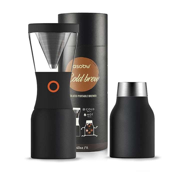 【沖縄・離島配送不可】asobu コールドブリュー 水出しコーヒー 水だしコーヒーポット コーヒードリッパー 保温 保冷 コーヒー アイスコーヒー ホットコーヒー 自宅 オフィス おしゃれ