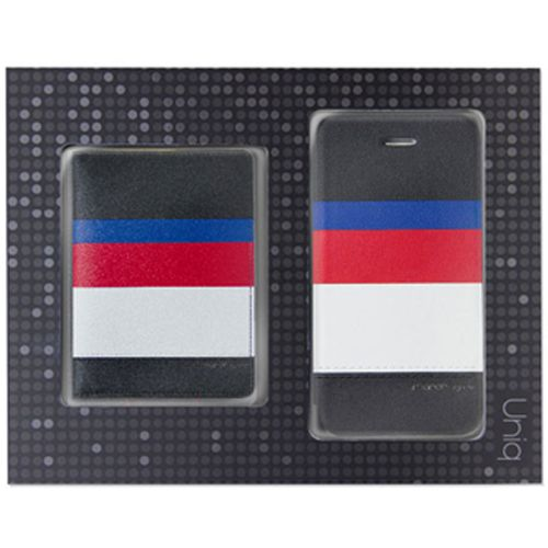 Uniq Gift Pack March iPhone 5/5S + Name Card Holder (Captain Snazzy) 製品型番:IP5NCHMARBLK
