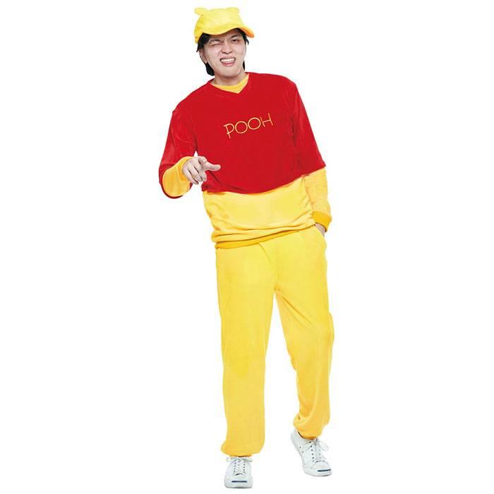 【あす楽 送料無料】Costume Adult Pooh ディズニー くまのプーさん ハロウィン コスプレ コスチューム メンズサイズ 衣装 仮装 変装 RUBIES JAPAN 37190