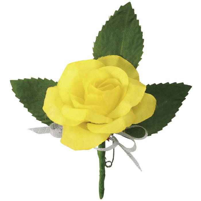 コサージュ ミニバラ イエロー 花飾り バラ 薔薇 花 フラワー 造花 アクセサリー アクセ 雑貨 かわいい おしゃれ アーテック 75023