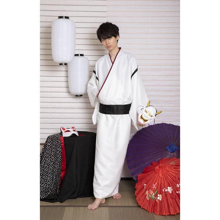 花鳥風月 着物 卯の花 帯 セット 和装 和服 コスプレ コスチューム 衣装 仮装 変装 メンズサイズ 粋 かっこいい クリアスrdBeCxo