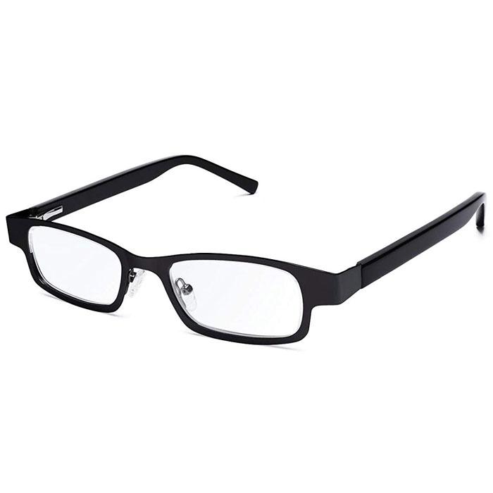 【沖縄・離島配送不可】アイジャスターズ オックスブリッジ ブラック&ブラック 度数可変 シニアグラス ハードケース付 老眼鏡 進行性老眼 夕方老眼 イギリス製 メテックス EYJOXB-BK