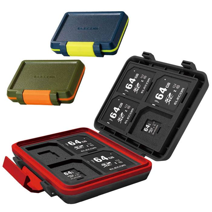 送料無料 沖縄 離島除く 宅配便出荷 衝撃に強く水やホコリからも徹底ガード 超目玉 SDカードとmicroSDカードをコンパクトに収納できる耐衝撃メモリカードケース あす楽 SD microSD 現金特価 エレコム カバー メモリカードケース ケース CMC-SDCHD01 SD8枚+microSD8枚収納 耐衝撃カードケース ハードケース
