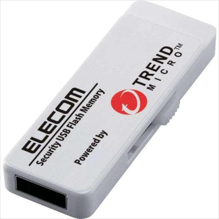 【沖縄・離島配送不可】【代引不可】セキュリティ付USBメモリ USB3.0 4GB 5年L TREND MICRO ウイルスチェック機能搭載 感染ブロック 高速データ転送 エレコム MF-PUVT304GA5