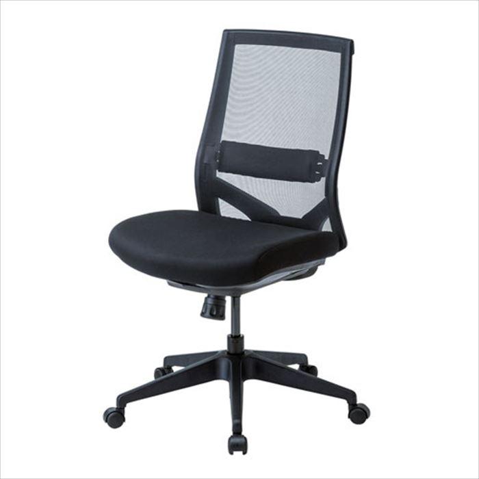 【沖縄・離島配送不可】高耐荷重メッシュチェア オフィスチェア 椅子 デスクワーク ロッキング機能 ガス圧リフト ブラック サンワサプライ SNC-NET20BK