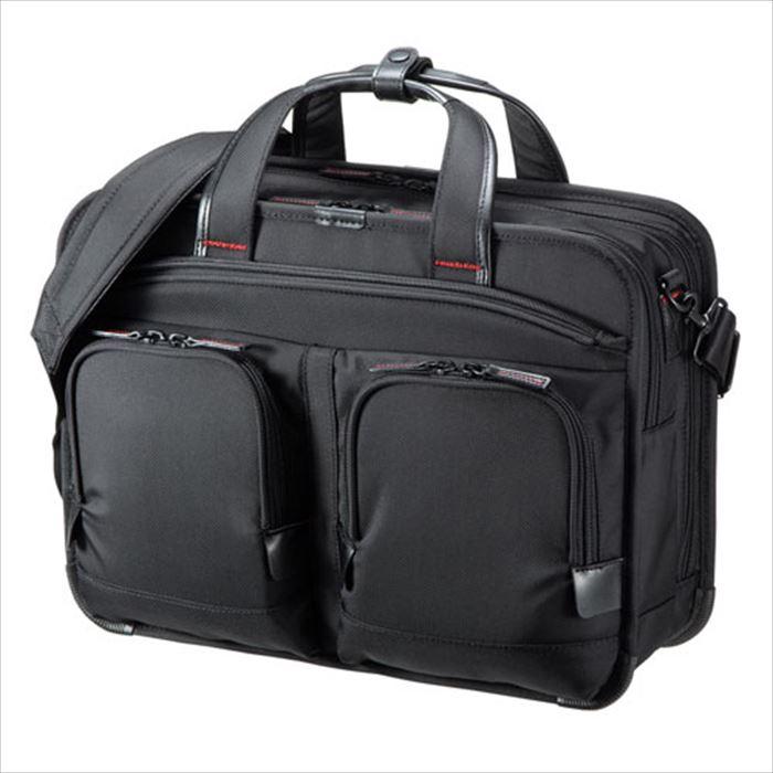 ビジネスバッグ PRO ダブル ショルダーバッグ 鞄 テフロン加工 PC タブレット 収納 ブラック サンワサプライ BAG-EXE11