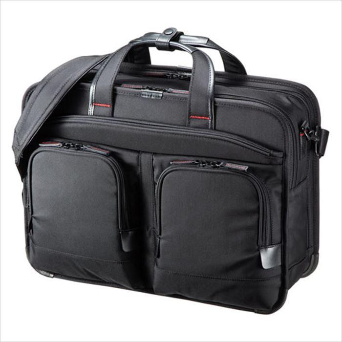 ビジネスバッグ PRO 大型ダブル ショルダーバッグ 鞄 テフロン加工 PC タブレット 収納 ブラック サンワサプライ BAG-EXE12