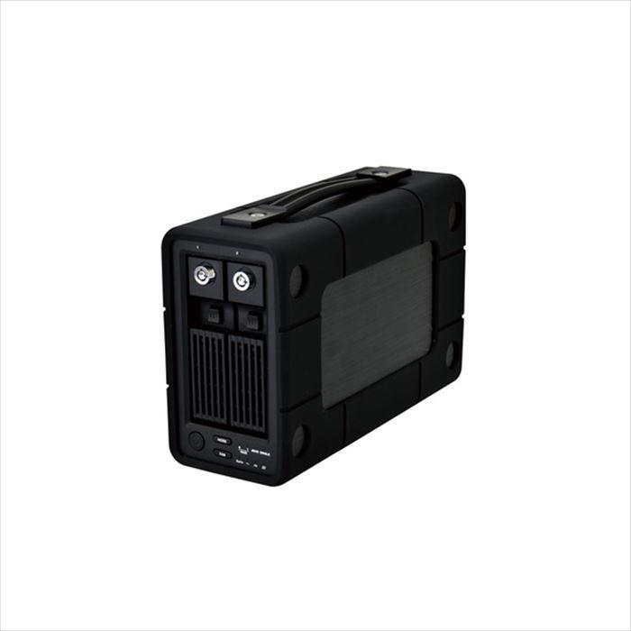 【沖縄・離島配送不可】2Bay RAID機能搭載 HDD 外付けハードディスク 8TB 高速 データ保護 ハンドル 耐衝撃バンパー エレコム ELD-2B080UBK