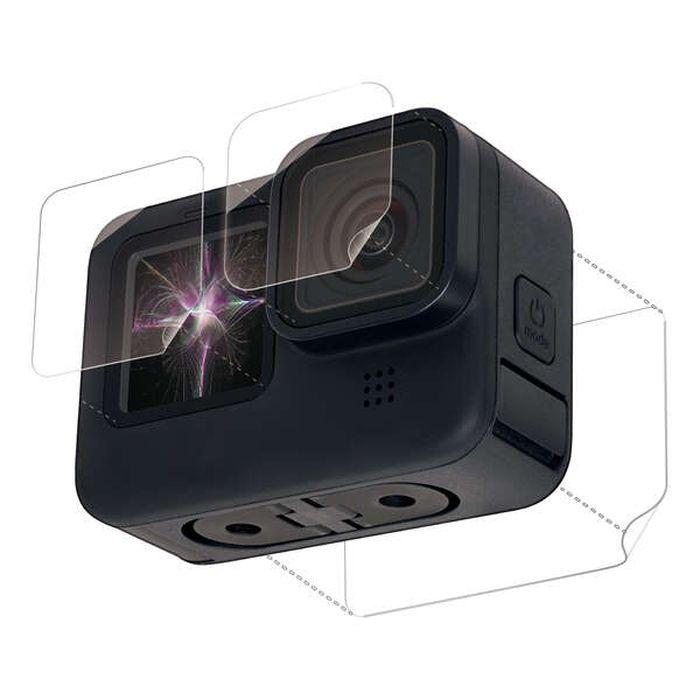 送料無料 メール便出荷 GoPro HERO9 Black用 超親水衝撃吸収フィルム GoPro HERO9 Black 液晶保護フィルム 超親水×衝撃吸収 硬度3H ハードコート 指紋防止 エアーレス エレコム AC-GP9BFLPAFFG