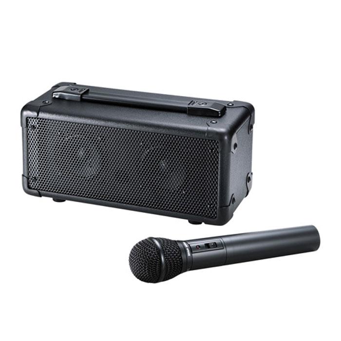 【沖縄・離島配送不可】会議 講義 セミナー イベントなどで手軽に使えるワイヤレスマイク付き拡声器スピーカー 持ち運び便利なハンドル付き 専用バッグ付き サンワサプライ MM-SPAMP4