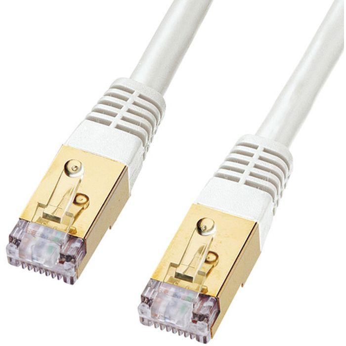 次世代10GBASE完全対応 ノイズに強い最強LANケーブル カテゴリ7LANケーブル(30m・ホワイト) サンワサプライ KB-T7-30WN