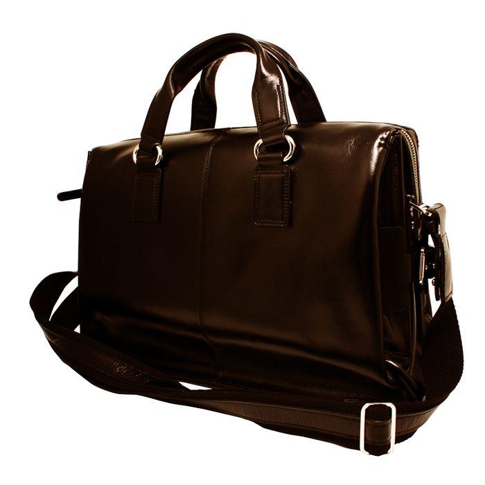 ビジネスバッグ 最高級本牛革 仕切板2枚付 小物が多くても綺麗に収納可能 ショルダーベルト付 Victory Bag ブラウン LEPLUS LP-LBVCBR