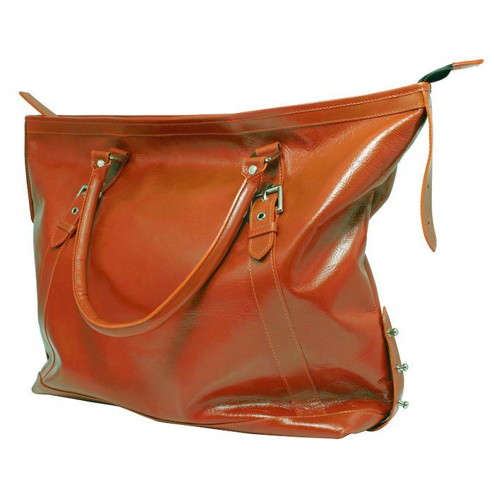 ビジネスバッグ 最高級本牛革 軽量設計 ライトカジュアルなフォルムでプライベートでも使いやすい Capital Bag オレンジ LEPLUS LP-LBCPOR