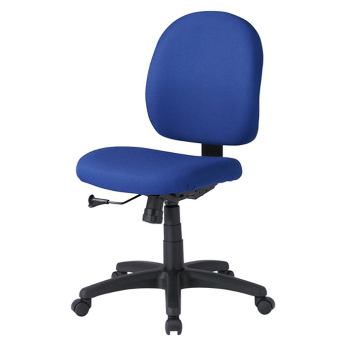 【沖縄・離島配送不可】【代引不可】OAチェア ブルー 背もたれ、座面の大きいゆったりタイプで長時間座っても疲れにくいチェア サンワサプライ SNC-T130KBL