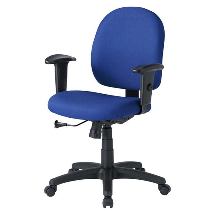 【代引不可】OAチェア ブルー 背もたれ、座面の大きいゆったりタイプで長時間座っても疲れにくいチェア 肘あて付き サンワサプライ SNC-T131KBL