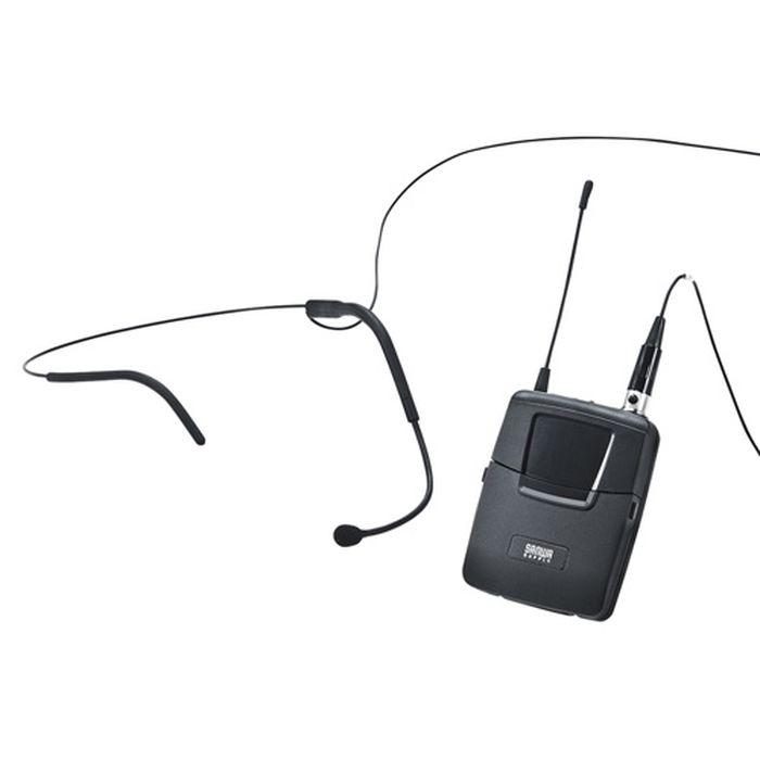 ワイヤレスヘッドマイク MM-SPAMP3用 特定小電力無線局ラジオマイク 800MHz帯 規格に適合 MM-SPAMP3用 サンワサプライ MM-SPAMP3WHS