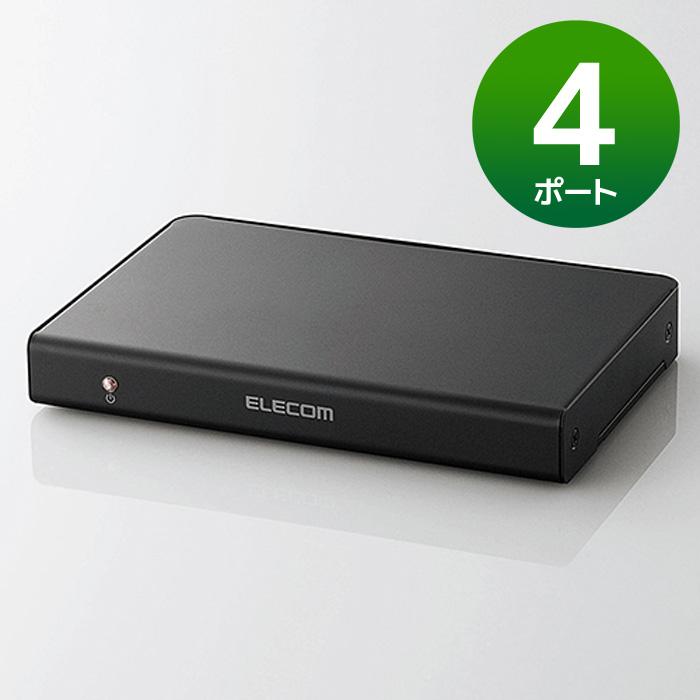 【沖縄・離島配送不可】【代引不可】HDMI分配器 高画質・高音質のまま複数のHDMI出力機器に同時に分配出力 出力ポート数:4 エレコム VSP-HD14BK