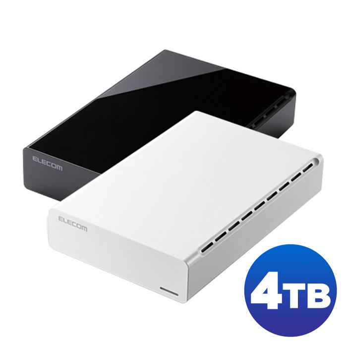 【沖縄・離島配送不可】パソコンやテレビ、レコーダーに簡単接続できるUSB3.0対応外付けハードディスク 4TB エレコム ELD-CED040U