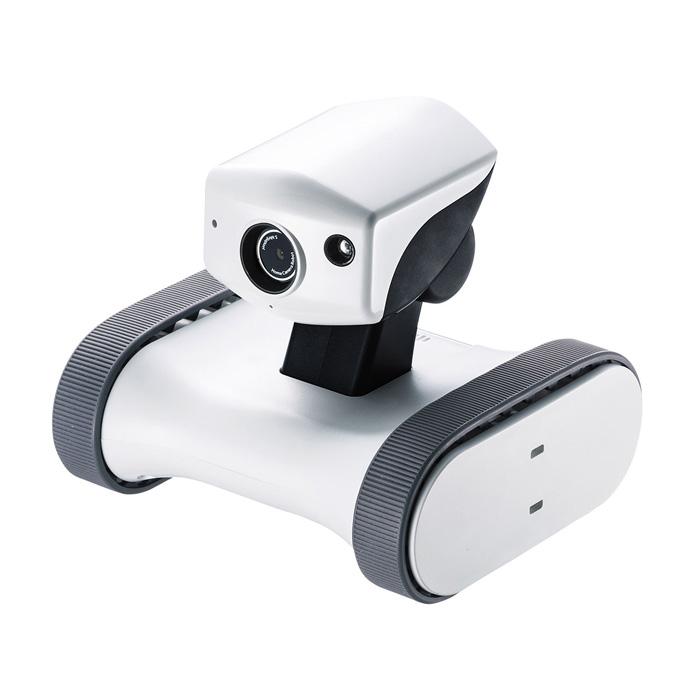 外出先からスマホで遠隔操作や操縦もできる移動式ネットワークカメラ 双方向通話も可能で会話もできる安心機能搭載 アボットライリー サンワサプライ RB-RILEY