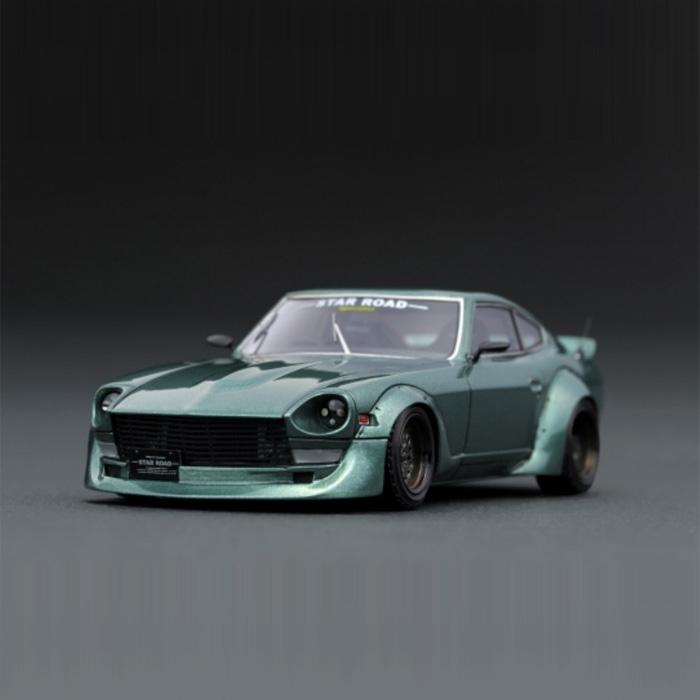 【沖縄・離島配送不可】1/43 日産 ファエレディ Z S30 スターロード グリーン Nissan Fairlady Z S30 STAR ROAD Green イグニッションモデル IG1424
