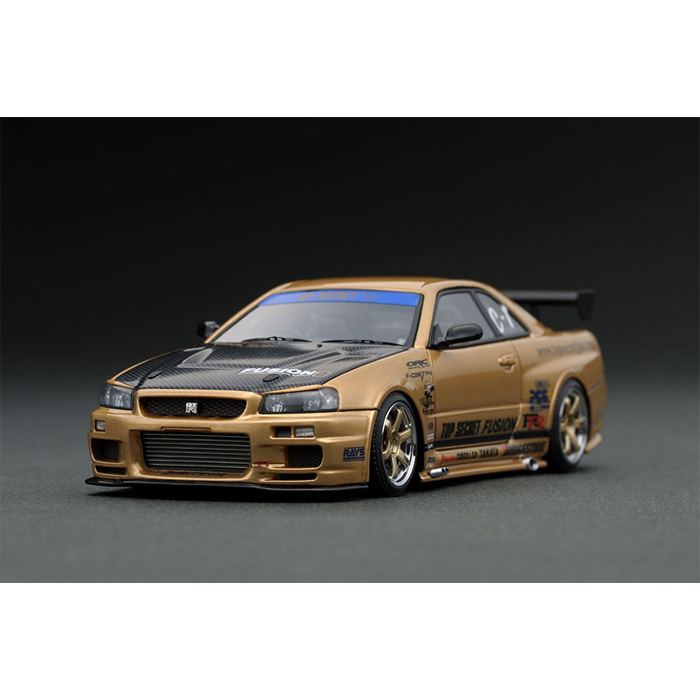 1/43 TOP SECRET GT-R (BNR34) Gold ゴールド 日産 ニッサン スカイライン SKYLINE ignition model IG1482