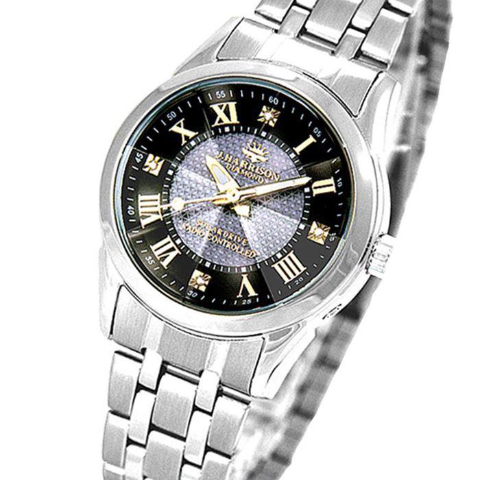 【沖縄・離島配送不可】ジョンハリソン 腕時計 ウォッチ 4石天然ダイヤモンド付 ソーラー電波 高級 ブランド レディース J.HARRISON JH-082LGB