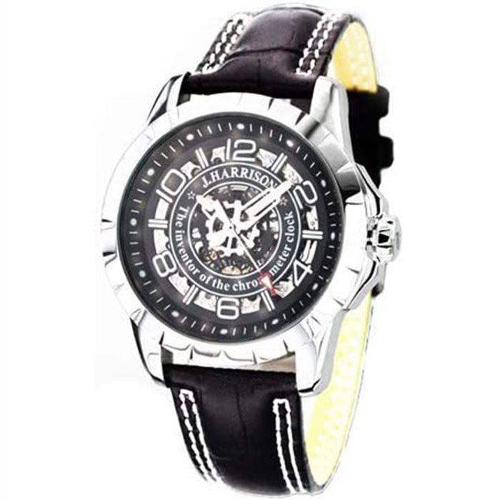 【沖縄・離島配送不可】ジョンハリソン 腕時計 ウォッチ 両面スケルトン 自動巻&手巻 高級 ブランド メンズ J.HARRISON JH-038SB