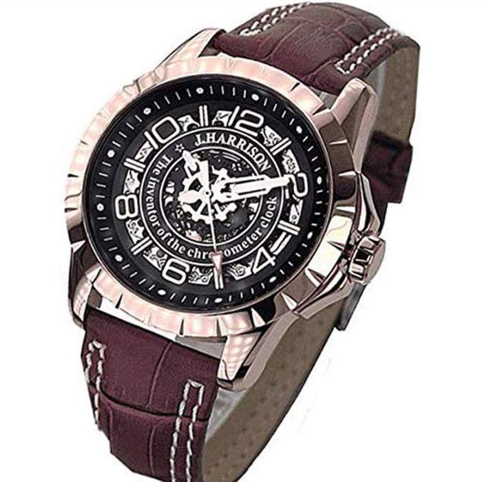 【沖縄・離島配送不可】ジョンハリソン 腕時計 ウォッチ 両面スケルトン 自動巻&手巻 高級 ブランド メンズ J.HARRISON JH-038PB