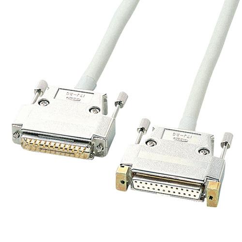 【沖縄・離島配送不可】【サンワサプライ SANWA SUPPLY】 RS-232Cケーブル(25pin延長用・5m) 製品型番:KRS-004N