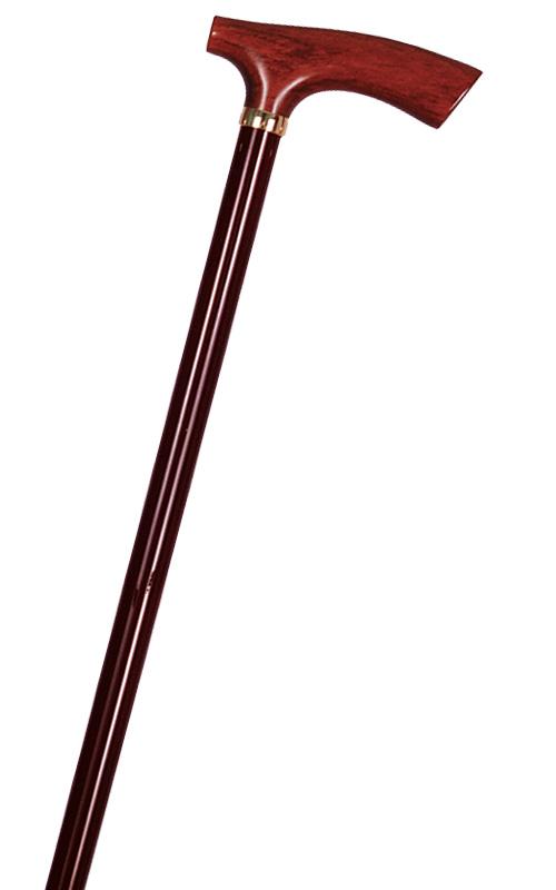 【代引不可】カーボンステッキ(杖) カーボン棒茶&花梨(カリン)L型手元 全長92cm/重量185g/直径16mm 製品型番:235