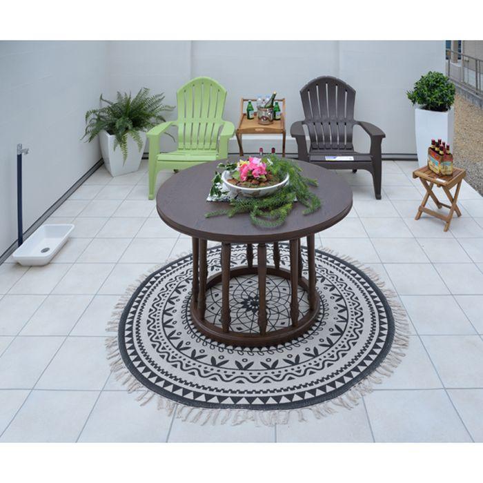 ラウンドテーブル ダイニングテーブル 丸テーブル テーブル 天然木 オーク アンティーク アジアン クラシック ビンテージ 東谷 VET-590