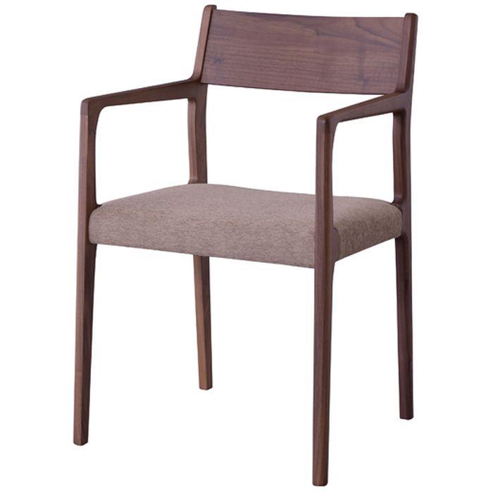 【北海道・沖縄・離島配送不可】【代引不可】アームチェア ダイニングチェア 椅子 いす 天然木 ウォルナット 日本製 東谷 JPC-122WAL