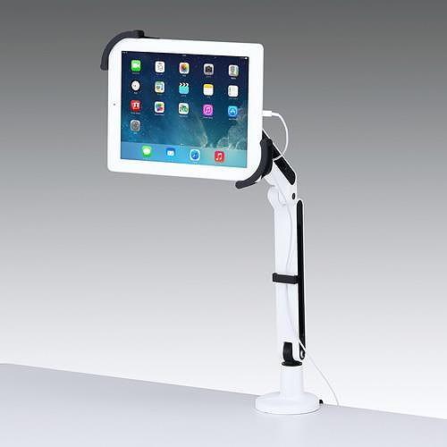 【代引不可】サンワサプライ 7~11インチ対応iPad・タブレット用アーム(クランプ式・2本アーム)  CR-LATAB9