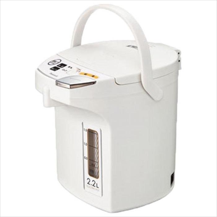 給湯ボタンがわかりやすい電動給湯ポット 2.2L ホワイト ピーコック WMJ-22 W