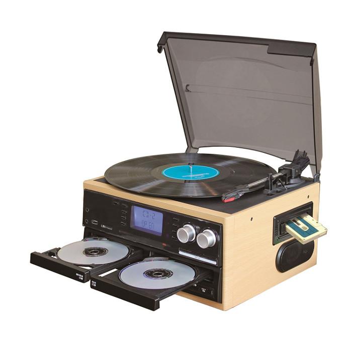 CDコピー機能搭載 マルチレコードプレーヤー PIF RTC-30W