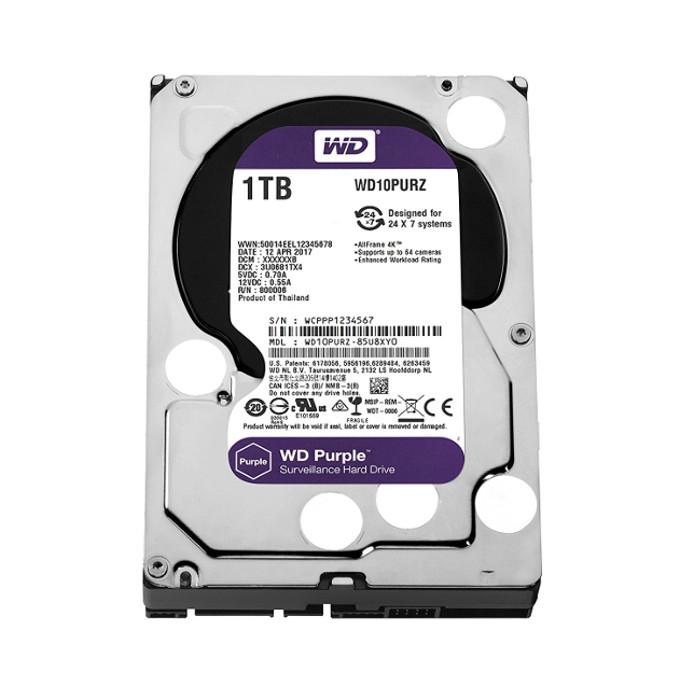 WD PURPLE 内蔵ハードディスク WD10PURZ 監視システム向きHDD/1TB/5400rpmC/64MB 内蔵hdd WD ウエスタンデジタル パソコン PC Western Digital WD10PURZ