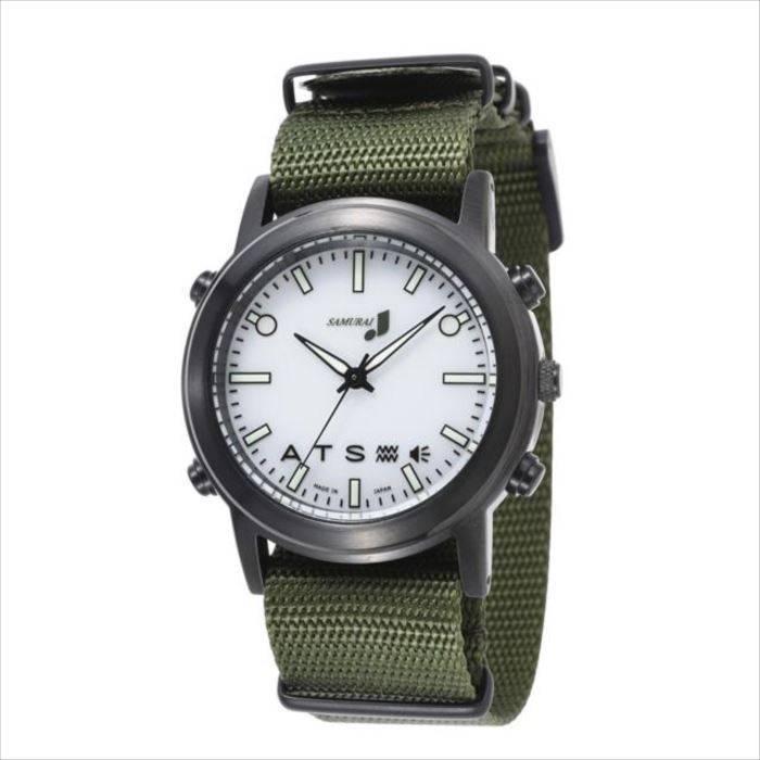 【沖縄・離島配送不可】腕時計 振動式 SAMURAI MAX カジュアルホワイト アウトドア派のあなたを強力にバックアップ 自立コム J-SMAX_CW