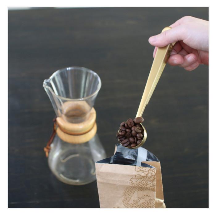 コーヒーメジャー クリップ付きスプーン ステンレス ブラスカラー おしゃれ キッチン小物 コーヒーグッズ BONO BONO HLLH2060
