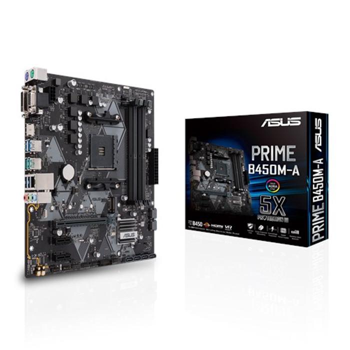 ASUS エイスース マザーボード Aura Sync対応 AM4 B450搭載 microATX ASUSTeK COMPUTER ASU-PRIME/B450M-A