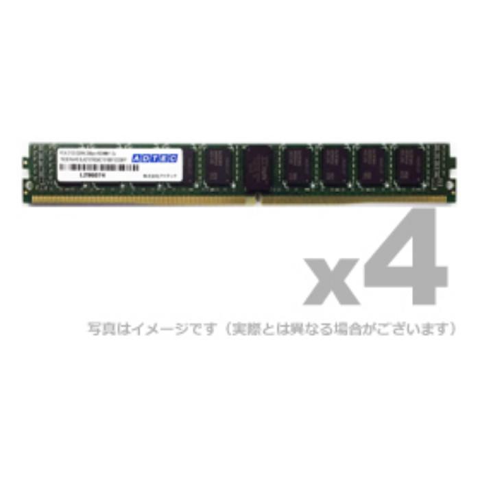 【沖縄・離島配送不可】メモリ サーバ用 増設メモリ DDR4-2666 UDIMM ECC 16GB 4枚組 VLP ADTEC ADS2666D-EV16G4