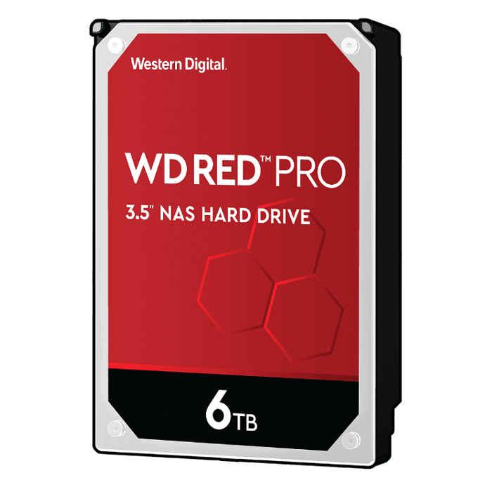 【沖縄・離島配送不可】内蔵ハードディスクドライブ WD Red Proシリーズ NAS向け SATA 6.0Gb/s 256MB 6TB 7,200rpm 3.5inch AF対応 Western Digital WDC-WD6003FFBX-R