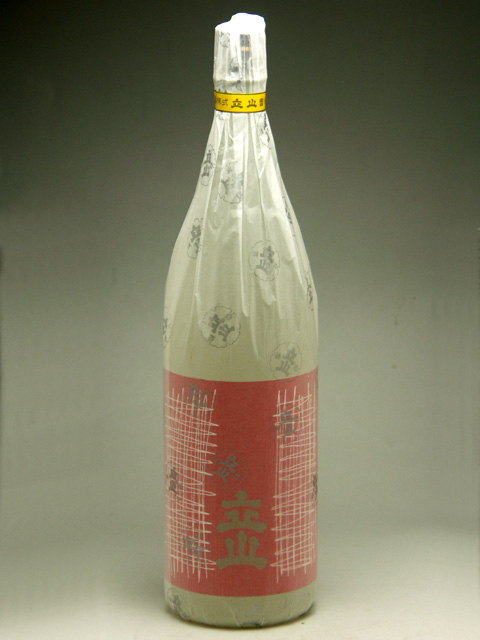 2020春夏新作 メーカー直売 お鮨屋さんで大人気のお酒です 富山県の地酒 銀嶺立山 1800ml 吟醸
